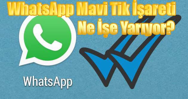 whatsapp mavi tik, işareti, ne işe yarar, nedir